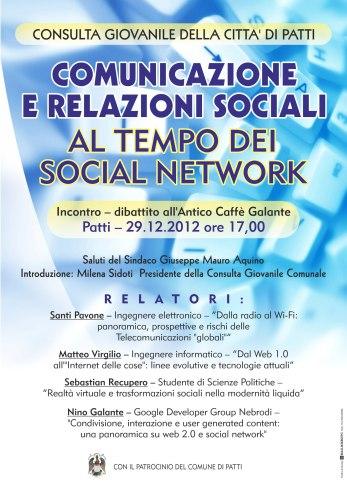 Comunicazione e relazioni sociali al tempo dei social network